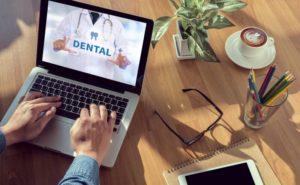 dental form on laptop